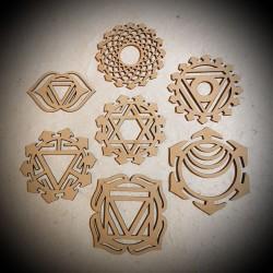 Lot Symboles 7 Chakras -...