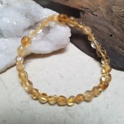Bracelet CITRINE 17cm