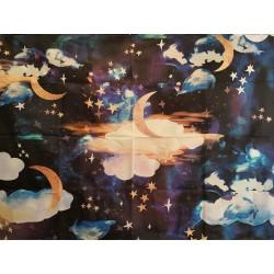 Tapis velour Lunes et étoiles