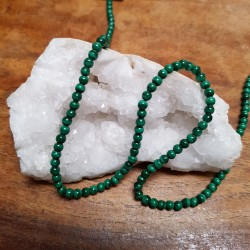 Perle  MALACHITE 4mm / Lot...