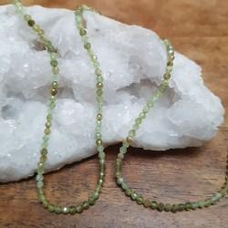 Perle  GRENAT Vert Facettée...