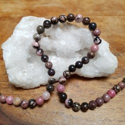 Perle  RHODONITE 6mm / Lot...